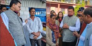 CM Dhami was present with the disaster victims on the fifth day